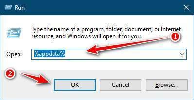 Mở App Data trên Windows
