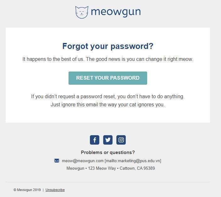 Template email quên mật khẩu