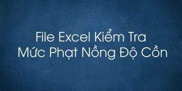 File Excel kiểm tra mức phạt nồng độ cồn