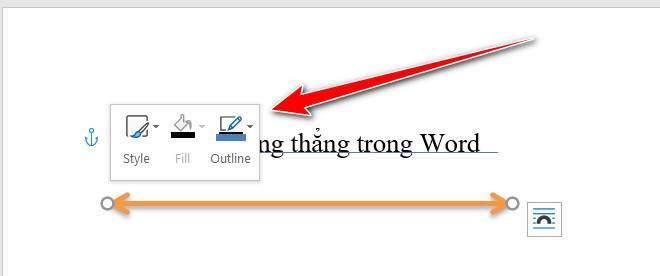 Tuỳ biến đường thẳng trong Word
