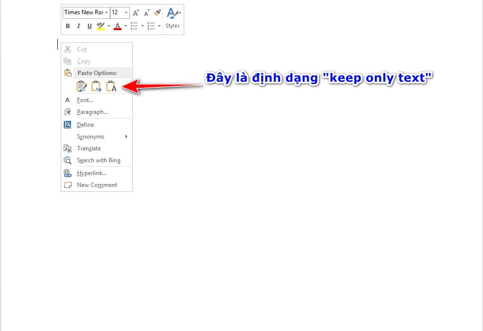 lỗi copy từ web sang word