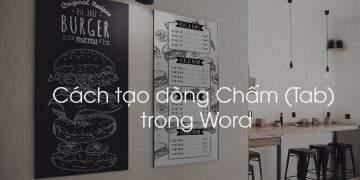 Cách tạo dòng chấm trong Word