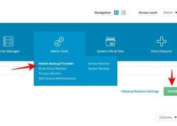 Lên lịch backup tự động cho Directadmin