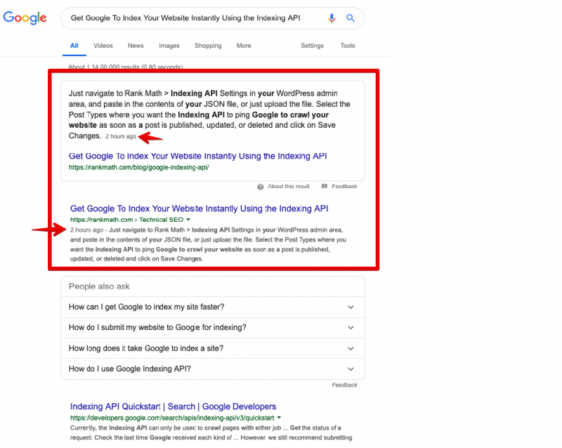 google indexing api 2 e1603129411600