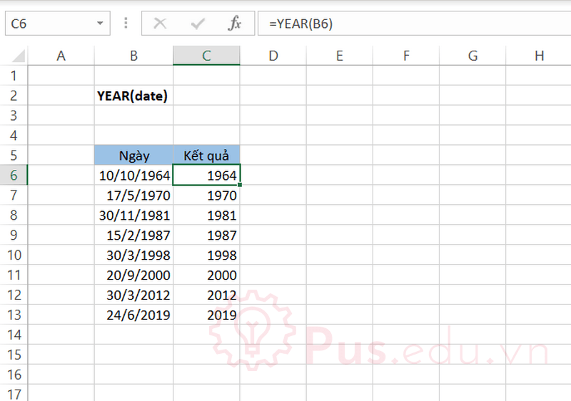 ham year trong excel 1