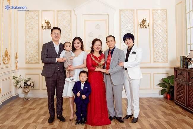 chụp ảnh đại gia đình