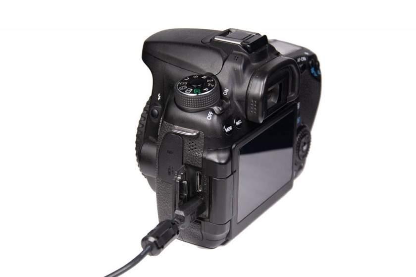 gắn cổng mini usb vào máy ảnh
